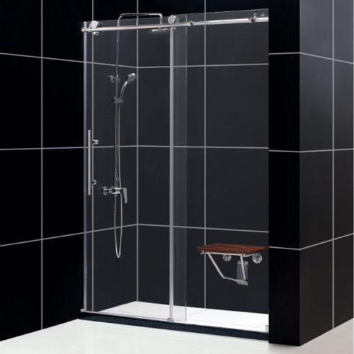 "TT MANHATTAN 48"" FULLY FRAMELESS SHOWER DOOR DS-EF12-1232"